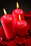 κόκκινο κεριών Στοκ Φωτογραφίες