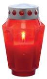 κόκκινο κεριών Στοκ Φωτογραφία