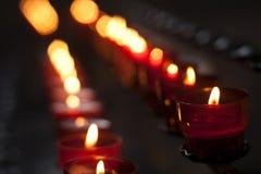 κόκκινο κεριών Στοκ εικόνες με δικαίωμα ελεύθερης χρήσης