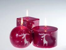 κόκκινο κεριών Στοκ Εικόνα