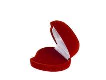 κόκκινο κιβωτίων jewely Στοκ Φωτογραφία