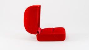 Κόκκινο κιβώτιο δαχτυλιδιών Στοκ φωτογραφία με δικαίωμα ελεύθερης χρήσης