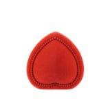 Κόκκινο κιβώτιο βελούδου που απομονώνεται Στοκ εικόνα με δικαίωμα ελεύθερης χρήσης