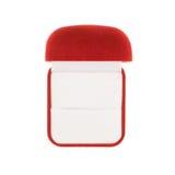Κόκκινο κιβώτιο βελούδου που απομονώνεται στοκ φωτογραφία με δικαίωμα ελεύθερης χρήσης