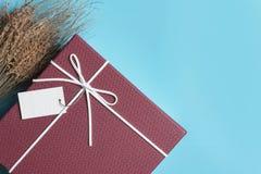 Κόκκινο κιβώτιο δώρων, δέσμη κορδελλών Στοκ Εικόνες