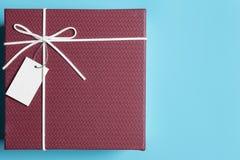 Κόκκινο κιβώτιο δώρων, δέσμη κορδελλών Στοκ Φωτογραφίες
