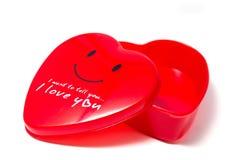 Κόκκινο κιβώτιο καρδιών Στοκ Φωτογραφία