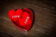 Κόκκινο κιβώτιο καρδιών Στοκ Εικόνες