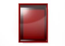 Κόκκινο κιβώτιο σπασιμάτων σε περίπτωση έκτακτης ανάγκης Στοκ Φωτογραφία