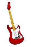 κόκκινο κιθάρων Στοκ Εικόνες