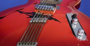 κόκκινο κιθάρων Στοκ Φωτογραφία