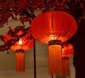 Κόκκινο κινεζικό νέο έτος φαναριών Στοκ Εικόνες