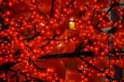 Κόκκινο κινεζικό νέο έτος φαναριών Στοκ εικόνα με δικαίωμα ελεύθερης χρήσης