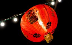 Κόκκινο κινεζικό φανάρι στην πόλη Phuket, Ταϊλάνδη Στοκ εικόνες με δικαίωμα ελεύθερης χρήσης