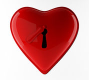 κόκκινο κλειδωμάτων neart Στοκ Φωτογραφία