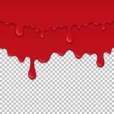 Κόκκινο κολλώδες υγρό άνευ ραφής στοιχείο διανυσματική απεικόνιση