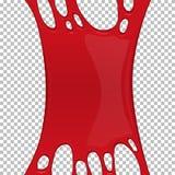 Κόκκινο κολλώδες slime έμβλημα με το διάστημα αντιγράφων απεικόνιση αποθεμάτων