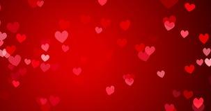 Κόκκινο κομφετί Ευτυχές βαλεντίνων υπόβαθρο βρόχων ημέρας άνευ ραφής απεικόνιση αποθεμάτων