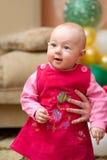 κόκκινο κοριτσιών φορεμάτων μωρών Στοκ εικόνες με δικαίωμα ελεύθερης χρήσης