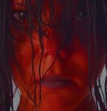 κόκκινο κοριτσιών Στοκ εικόνα με δικαίωμα ελεύθερης χρήσης
