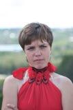 κόκκινο 2 κοριτσιών Στοκ εικόνες με δικαίωμα ελεύθερης χρήσης
