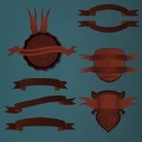 Κόκκινο κορδελλών λογότυπων Στοκ Φωτογραφία