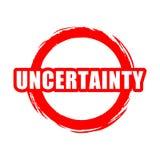 Κόκκινο κουμπί αβεβαιότητας, σημάδι, εικονίδιο, λογότυπο απεικόνιση αποθεμάτων