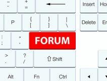 Κόκκινο κουμπί πληκτρολογίων φόρουμ απεικόνιση αποθεμάτων