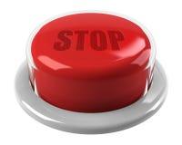 Κόκκινο κουμπί στάσεων Στοκ εικόνα με δικαίωμα ελεύθερης χρήσης