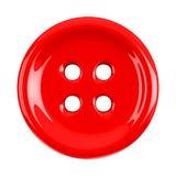 Κόκκινο κουμπί υφασμάτων, τρισδιάστατο στοκ εικόνες