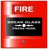 Κόκκινο κουμπιών πυρκαγιάς έκτακτης ανάγκης Στοκ εικόνα με δικαίωμα ελεύθερης χρήσης