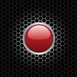 κόκκινο κουμπιών Στοκ Φωτογραφίες