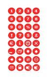 κόκκινο κουμπιών Στοκ εικόνα με δικαίωμα ελεύθερης χρήσης