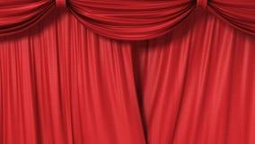 κόκκινο κουρτινών κλεισ Στοκ Φωτογραφίες