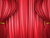 κόκκινο κουρτινών σύνθεσ&e Στοκ Φωτογραφίες