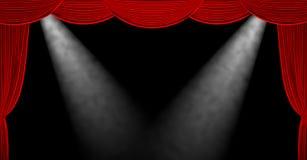 κόκκινο κουρτινών τρισδιάστατος δώστε Στοκ Εικόνα
