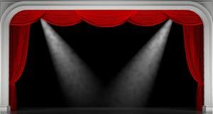 κόκκινο κουρτινών τρισδιάστατος δώστε Στοκ φωτογραφία με δικαίωμα ελεύθερης χρήσης