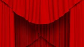 κόκκινο κουρτινών Απεικόνιση αποθεμάτων