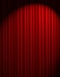 κόκκινο κουρτινών Στοκ Φωτογραφίες