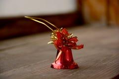 Κόκκινο κουδούνι Χριστουγέννων Στοκ εικόνες με δικαίωμα ελεύθερης χρήσης