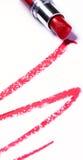 Κόκκινο κραγιόν με το ίχνος Στοκ φωτογραφίες με δικαίωμα ελεύθερης χρήσης