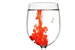 κόκκινο κρασί γυαλιού αίμ Στοκ Φωτογραφία