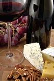 κόκκινο κρασί γυαλιού τρ&o Στοκ Εικόνες
