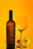 κόκκινο κρασί γυαλιών μπο στοκ εικόνα