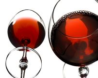 κόκκινο κρασί γυαλιών Στοκ φωτογραφίες με δικαίωμα ελεύθερης χρήσης