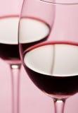 κόκκινο κρασί γυαλιών Στοκ Εικόνα