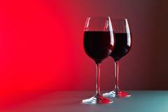 κόκκινο κρασί γυαλιών Στοκ φωτογραφία με δικαίωμα ελεύθερης χρήσης