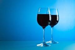 κόκκινο κρασί γυαλιών Στοκ εικόνες με δικαίωμα ελεύθερης χρήσης