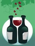 κόκκινο κρασί γυαλιού ανασκόπησης Στοκ Φωτογραφίες