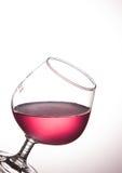 κόκκινο κρασί γυαλιού ράβδων αλκοόλης Στοκ Εικόνες